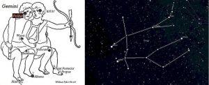 Pollux és az Ikrek csillagkép